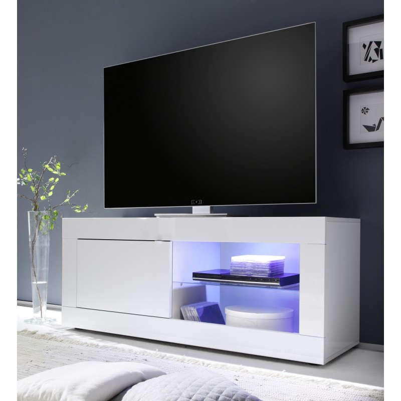 Dolcevita white gloss tv stand tv stands sena home White tv console
