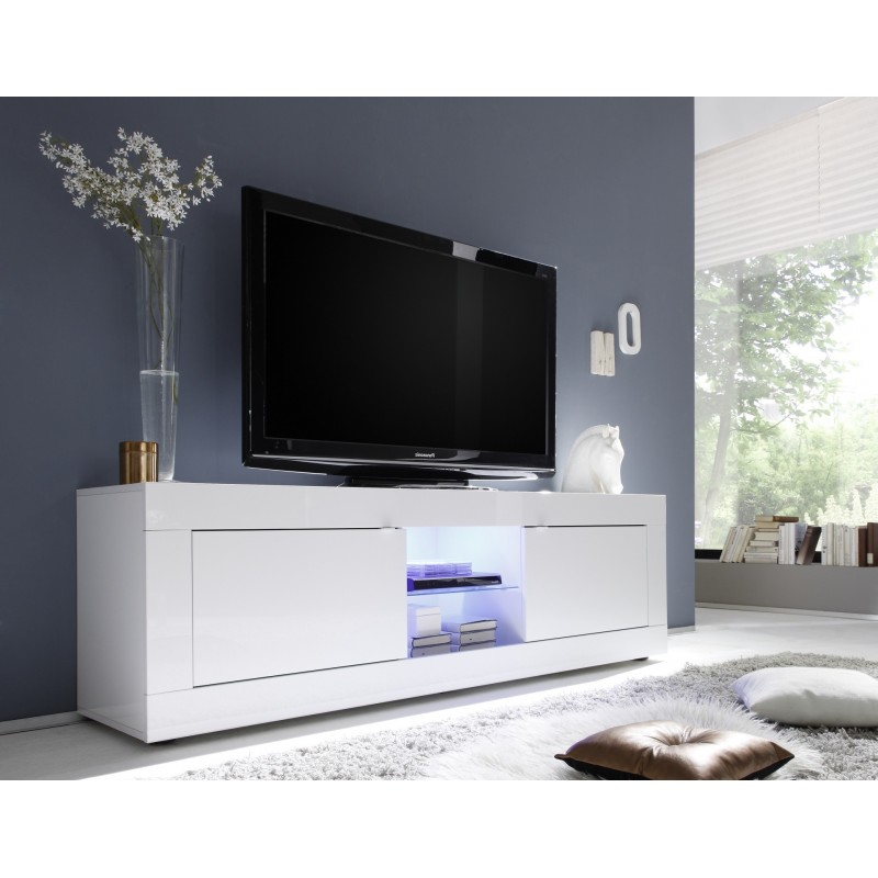 Dolcevita ii white gloss tv stand tv stands sena home White tv console