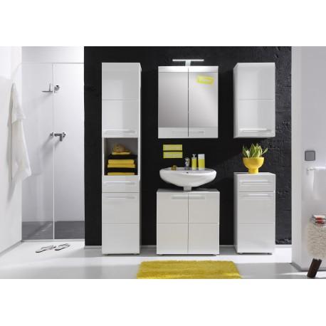 Elegant High Gloss White Portland Furniture Pack  Image 1