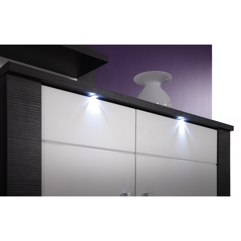 Xpress Grey Ash And White Gloss Sideboard With Led Lights