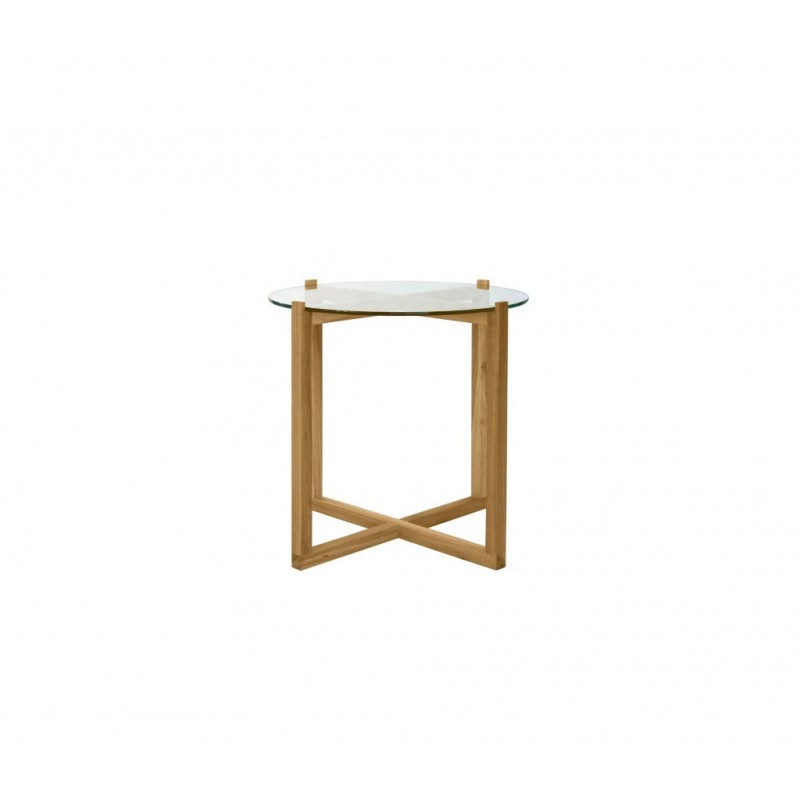 Turno Solid Oak Coffee Table With Glass Top Sena Home Furniture