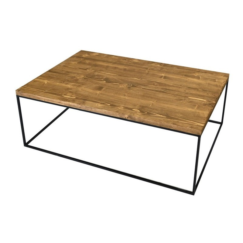 Redwood Ii Industrial Style Pine Wood Coffee Table Sena Home Furniture
