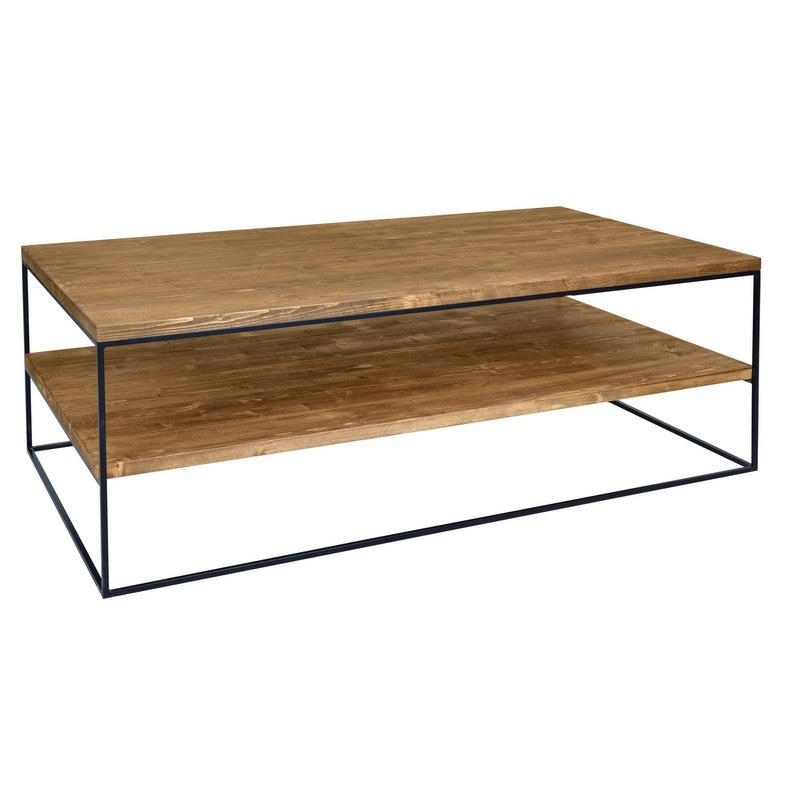 Redwood Iii Industrial Style Pine Wood Coffee Table Sena Home Furniture