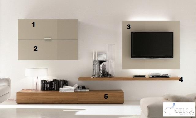 Happy Lacquer Wall Set Wall Units Sena Home Furniture
