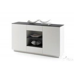 Daren - lacquered sideboard with stone imitation top