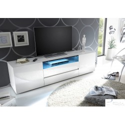 Lima 185cm high gloss lacquered tv unit