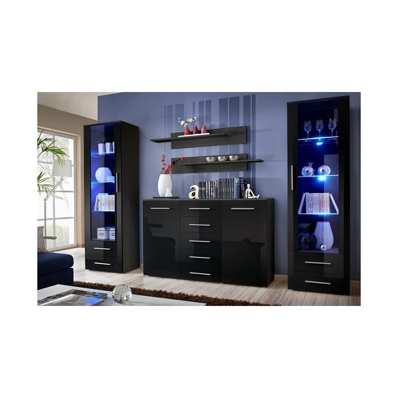 giallo d lounge set wall units sena home furniture. Black Bedroom Furniture Sets. Home Design Ideas