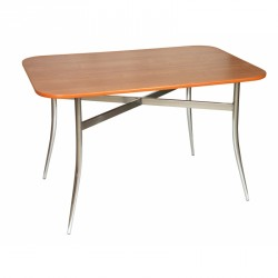 Atlas Duo - bistro wooden table with chrome base