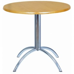 Euro - wooden bistro table with chrome base