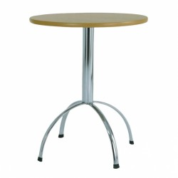 Luna - wooden bistro table with chrome base