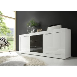 Dolcevita II-white and grey gloss sideboard