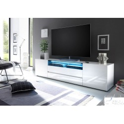 Lima 203cm large high gloss lacquered tv unit