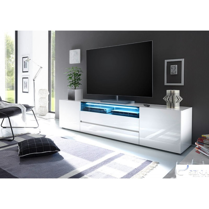 Lima Ii Large High Gloss Lacquered Tv Unit Tv Stands