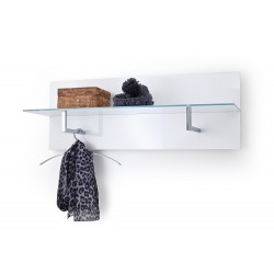 High gloss Hanging panel with glass shelf