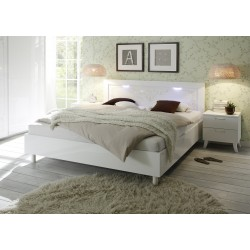 Mila - high gloss lacquered bed with lighting