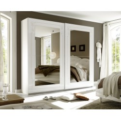 Mila II - wardrobe with white gloss doors and mirrors