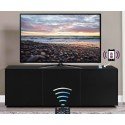 Ferro II - intelligent TV Unit with wireless phone charger in black finish