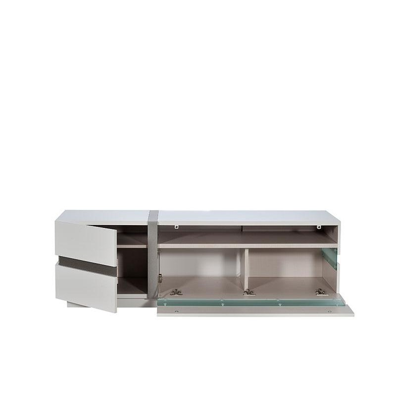 Cross White Tv Stand With Led Lights Tv Stands 1214