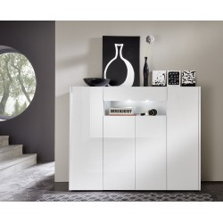 Imola - lacquer highboard with optional LED lights