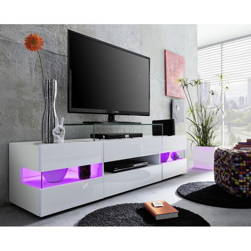 Tv Tables Hernan Tv Unit: TV Stand With Optional LED Lights