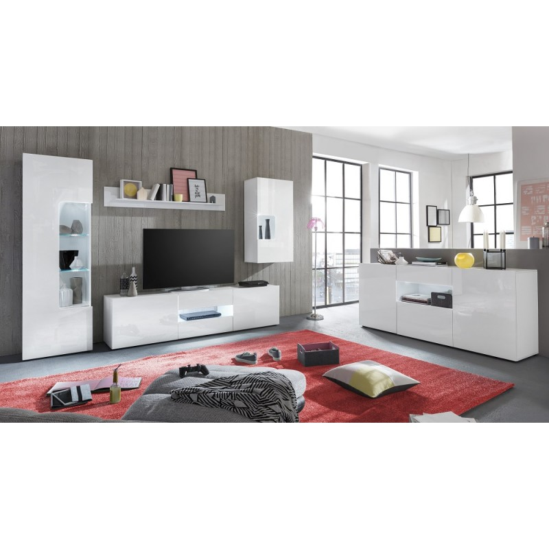 Imola Lacquered Sideboard With Optional Led Lights Sideboards