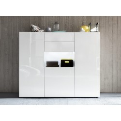 Imola II - lacquer highboard with optional LED lights