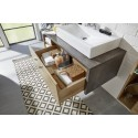 Bay - bathroom set with stone imitation finish