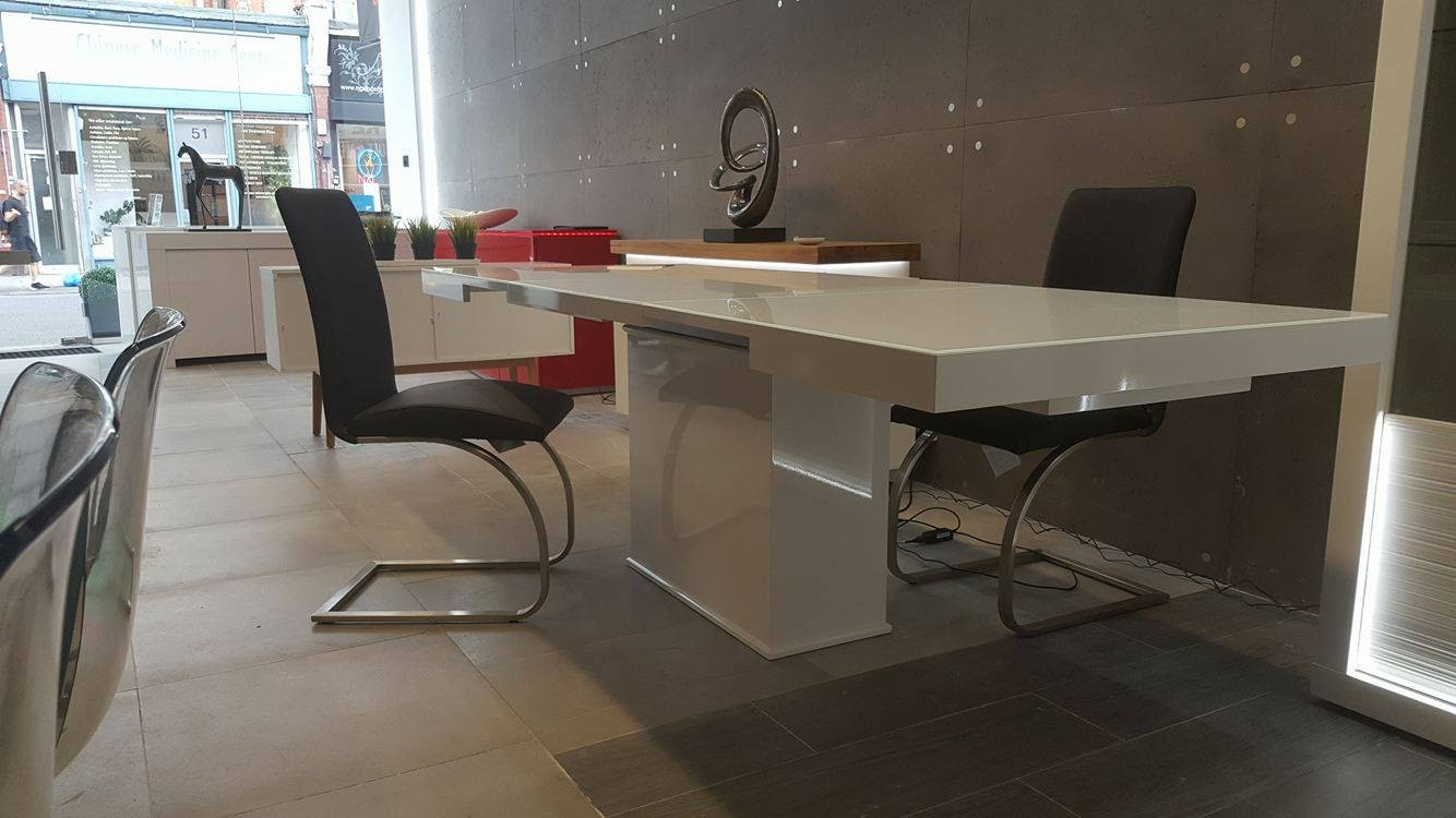 01976b2f5640 Breeze I bespoke extendable dining table with glass top - Dining ...