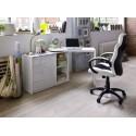 Mark - white lacquered swivel computer desk