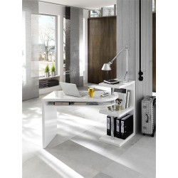 Mattis - white lacquered swivel computer desk