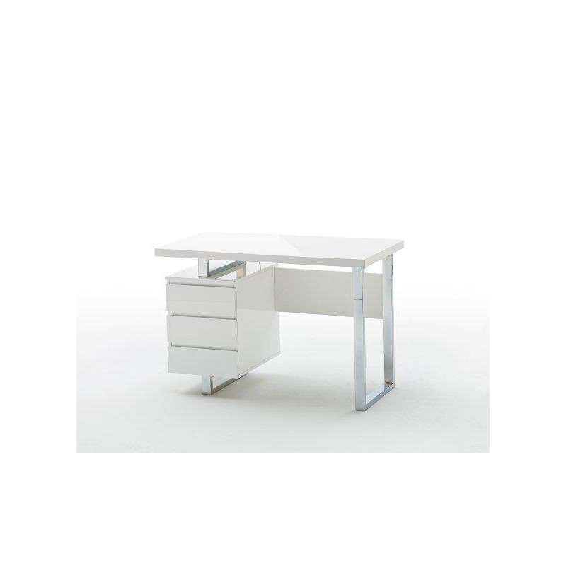 Sydney White Lacquered Computer Desk Office 2304