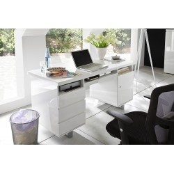 Sydney II - white lacquered computer desk
