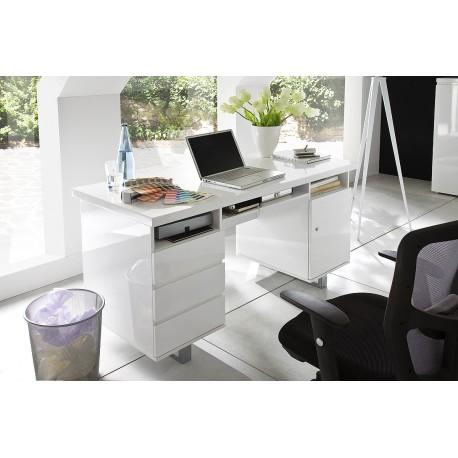 Sydney II - white lacquered computer desk