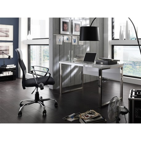 Sydney III - white lacquered computer desk