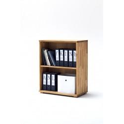 Lukas - office shelving unit in oak finish