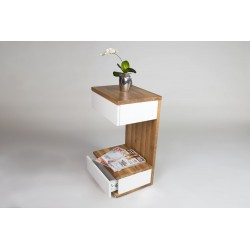 Linus III -wild oak side table