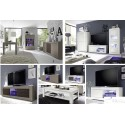 Dolcevita II-white with wenge doors TV Stand