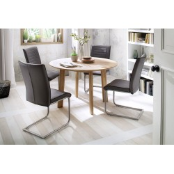 Ovo - solid wood round dining table