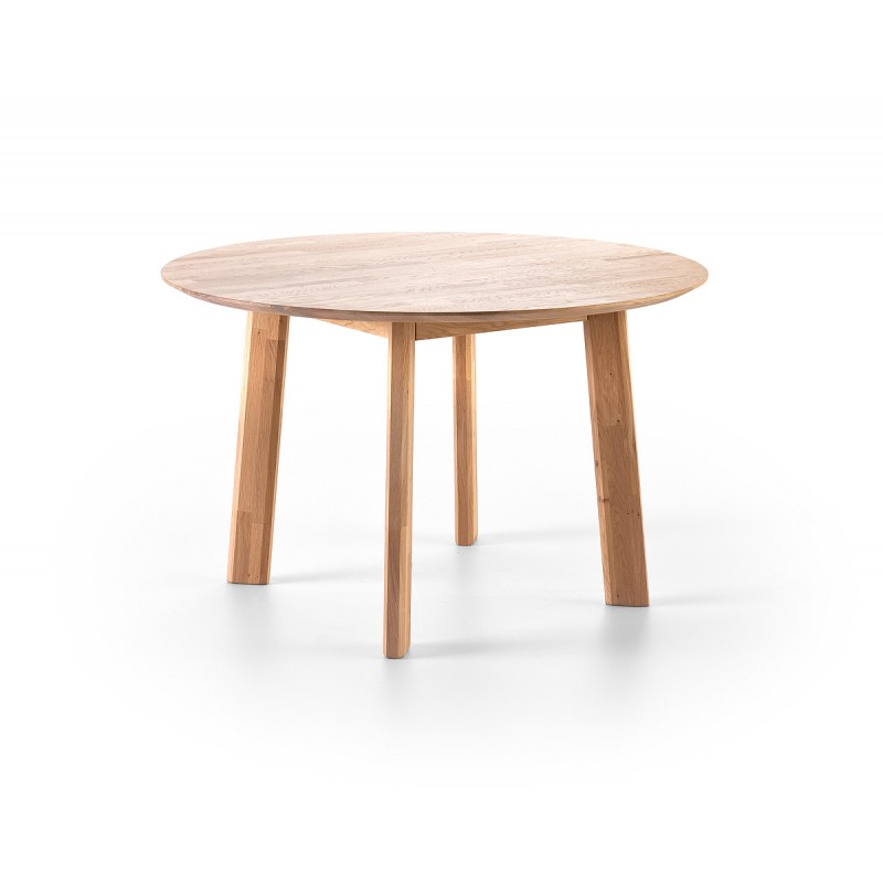 Ovo Solid Wood Round Dining Table Dining Tables Sena Home Furniture