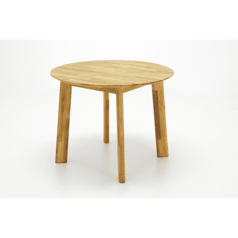 Ovo solid wood round dining table dining tables sena for Solid wood round tables dining