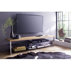 Fabio - solid oak top TV stand