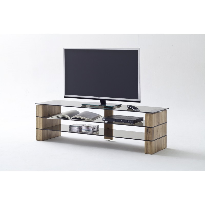 Kara Solid Oak And Glass Tv Stand Tv Stands Sena