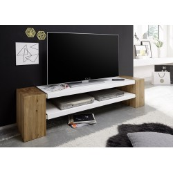 Jane - solid oak and lacquer TV stand