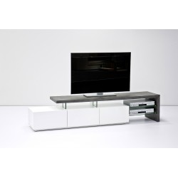 Ramos - lacquered tv unit with concrete imitation finish