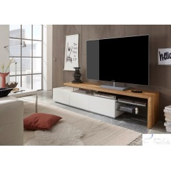 Ramos II - solid oak and lacquer TV stand