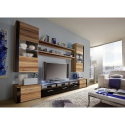 Prim wall set - oak & black