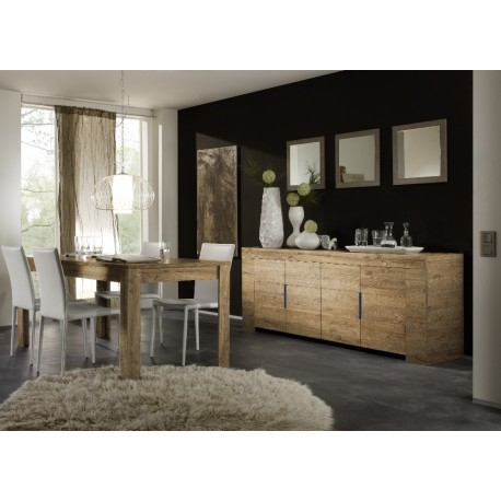 Eos II - honey wood finish sideboard