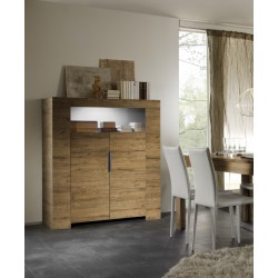 Eos II - honey wood highboard