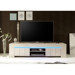 Palmira II - Large TV unit in rose beige finish