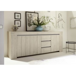 Palmira - Large sideboard in rose beige finish